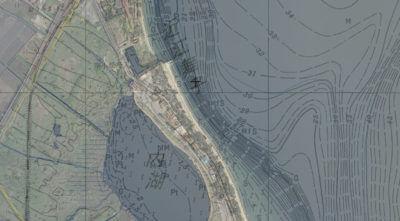 近江舞子の湖底図
